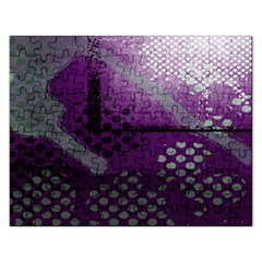 Evil Moon Dark Background With An Abstract Moonlit Landscape Rectangular Jigsaw Puzzl