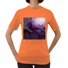 Evil Moon Dark Background With An Abstract Moonlit Landscape Women s Dark T Shirt