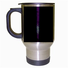 Evil Moon Dark Background With An Abstract Moonlit Landscape Travel Mug (Silver Gray)