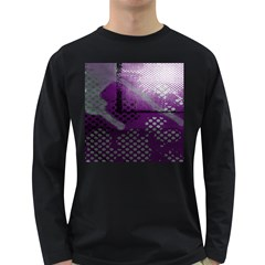 Evil Moon Dark Background With An Abstract Moonlit Landscape Long Sleeve Dark T-Shirts