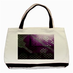 Evil Moon Dark Background With An Abstract Moonlit Landscape Basic Tote Bag
