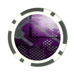 Evil Moon Dark Background With An Abstract Moonlit Landscape Poker Chip Card Guard