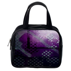 Evil Moon Dark Background With An Abstract Moonlit Landscape Classic Handbags (One Side)
