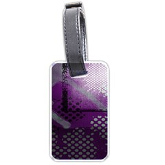 Evil Moon Dark Background With An Abstract Moonlit Landscape Luggage Tags (One Side)