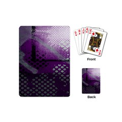 Evil Moon Dark Background With An Abstract Moonlit Landscape Playing Cards (mini)