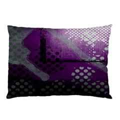 Evil Moon Dark Background With An Abstract Moonlit Landscape Pillow Case (Two Sides)