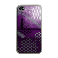 Evil Moon Dark Background With An Abstract Moonlit Landscape Apple iPhone 4 Case (Clear)