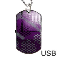 Evil Moon Dark Background With An Abstract Moonlit Landscape Dog Tag USB Flash (Two Sides)
