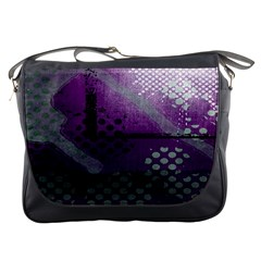 Evil Moon Dark Background With An Abstract Moonlit Landscape Messenger Bags