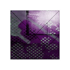 Evil Moon Dark Background With An Abstract Moonlit Landscape Acrylic Tangram Puzzle (4  x 4 )