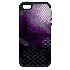 Evil Moon Dark Background With An Abstract Moonlit Landscape Apple Iphone 5 Hardshell Case (pc+silicone)
