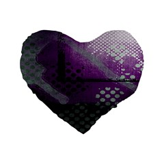 Evil Moon Dark Background With An Abstract Moonlit Landscape Standard 16  Premium Heart Shape Cushions
