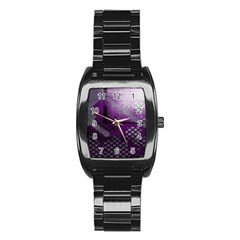 Evil Moon Dark Background With An Abstract Moonlit Landscape Stainless Steel Barrel Watch
