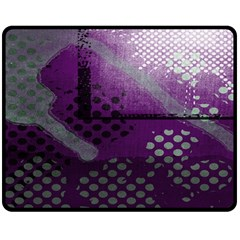 Evil Moon Dark Background With An Abstract Moonlit Landscape Double Sided Fleece Blanket (Medium)