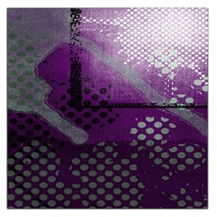 Evil Moon Dark Background With An Abstract Moonlit Landscape Large Satin Scarf (Square)