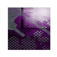 Evil Moon Dark Background With An Abstract Moonlit Landscape Small Satin Scarf (square)