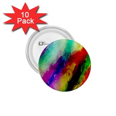 Colorful Abstract Paint Splats Background 1 75  Buttons (10 Pack)