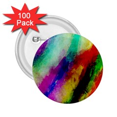 Colorful Abstract Paint Splats Background 2.25  Buttons (100 pack)