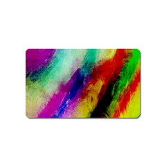 Colorful Abstract Paint Splats Background Magnet (Name Card)