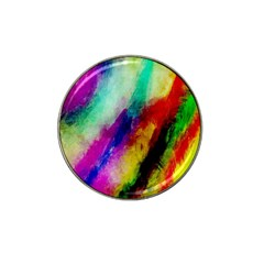 Colorful Abstract Paint Splats Background Hat Clip Ball Marker