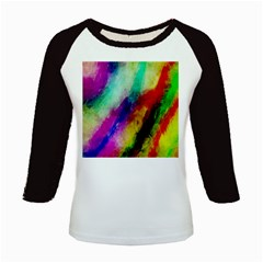 Colorful Abstract Paint Splats Background Kids Baseball Jerseys