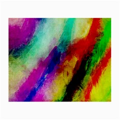Colorful Abstract Paint Splats Background Small Glasses Cloth