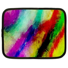 Colorful Abstract Paint Splats Background Netbook Case (Large)