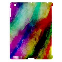 Colorful Abstract Paint Splats Background Apple iPad 3/4 Hardshell Case (Compatible with Smart Cover)