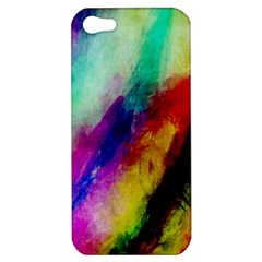 Colorful Abstract Paint Splats Background Apple iPhone 5 Hardshell Case