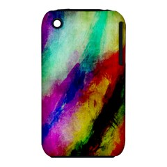 Colorful Abstract Paint Splats Background Iphone 3s/3gs