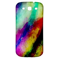 Colorful Abstract Paint Splats Background Samsung Galaxy S3 S III Classic Hardshell Back Case