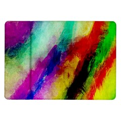 Colorful Abstract Paint Splats Background Samsung Galaxy Tab 10.1  P7500 Flip Case