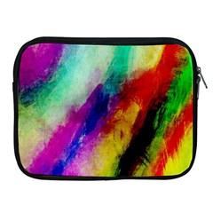 Colorful Abstract Paint Splats Background Apple iPad 2/3/4 Zipper Cases