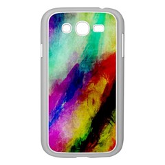 Colorful Abstract Paint Splats Background Samsung Galaxy Grand Duos I9082 Case (white)