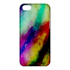 Colorful Abstract Paint Splats Background Apple iPhone 5C Hardshell Case
