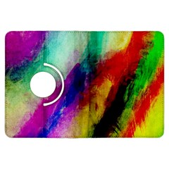 Colorful Abstract Paint Splats Background Kindle Fire HDX Flip 360 Case
