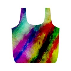 Colorful Abstract Paint Splats Background Full Print Recycle Bags (m)