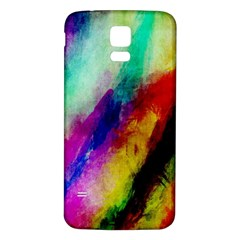 Colorful Abstract Paint Splats Background Samsung Galaxy S5 Back Case (White)