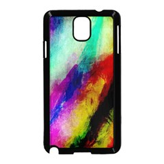 Colorful Abstract Paint Splats Background Samsung Galaxy Note 3 Neo Hardshell Case (Black)