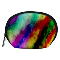 Colorful Abstract Paint Splats Background Accessory Pouches (Medium)