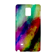 Colorful Abstract Paint Splats Background Samsung Galaxy Note 4 Hardshell Case