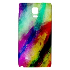 Colorful Abstract Paint Splats Background Galaxy Note 4 Back Case