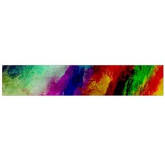 Colorful Abstract Paint Splats Background Flano Scarf (large)