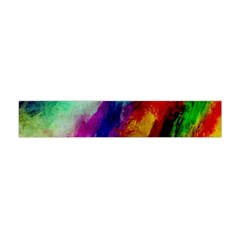 Colorful Abstract Paint Splats Background Flano Scarf (Mini)