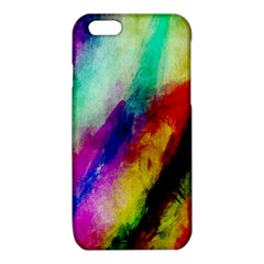 Colorful Abstract Paint Splats Background iPhone 6/6S TPU Case