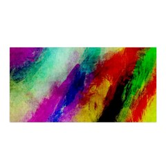Colorful Abstract Paint Splats Background Satin Wrap