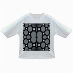 Mirror Of Black And White Fractal Texture Infant/toddler T Shirts