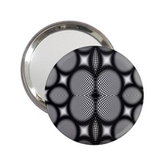 Mirror Of Black And White Fractal Texture 2.25  Handbag Mirrors
