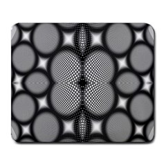 Mirror Of Black And White Fractal Texture Large Mousepads
