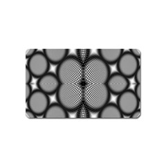 Mirror Of Black And White Fractal Texture Magnet (name Card)